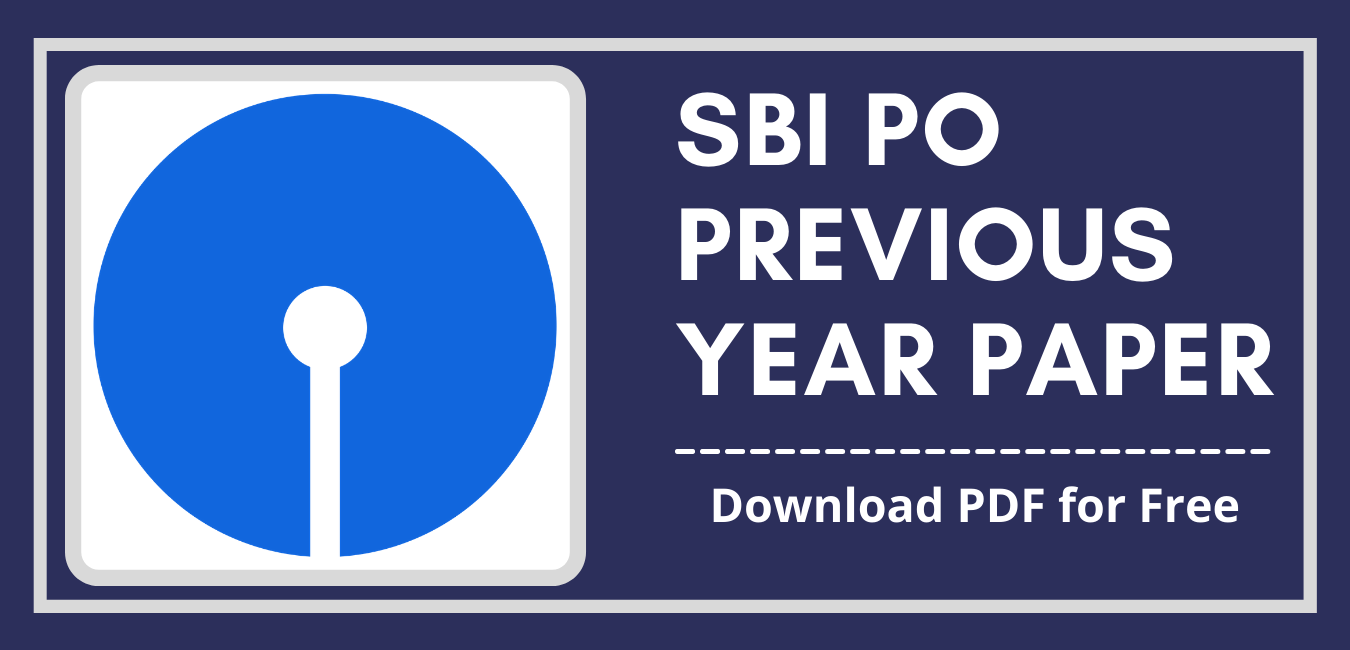 SBI PO Previous Year Paper
