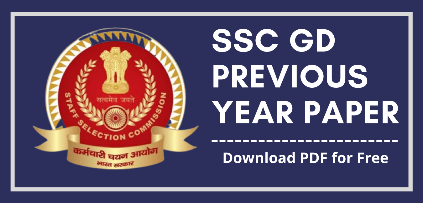 SSC GD Constable Previous Year Paper